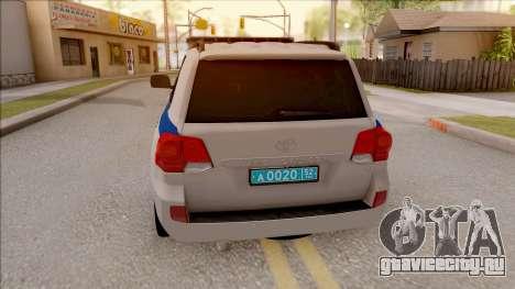Toyota Land Cruiser 200 Russian Police для GTA San Andreas вид сзади слева