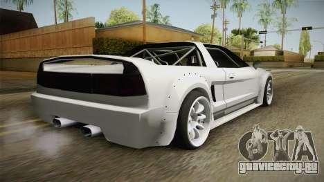 Infernus Rocket Bunny для GTA San Andreas вид слева