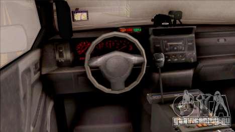 Bravado Gresley Hometown PD 2011 для GTA San Andreas вид изнутри