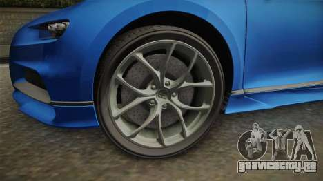 Bugatti Chiron Spyder для GTA San Andreas вид сзади