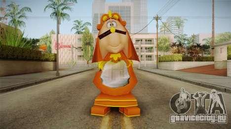 Beauty and the Beast - Cogsworth для GTA San Andreas второй скриншот