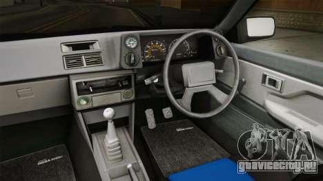 Toyota AE86 Cabrio для GTA San Andreas вид изнутри
