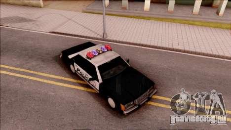Vice City Police Car для GTA San Andreas вид справа