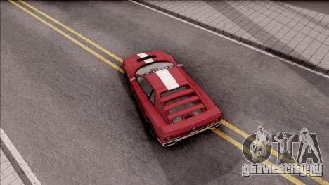 GTA V Grotti Cheetah Classic для GTA San Andreas вид сзади