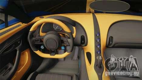 Bugatti Chiron Spyder для GTA San Andreas вид изнутри