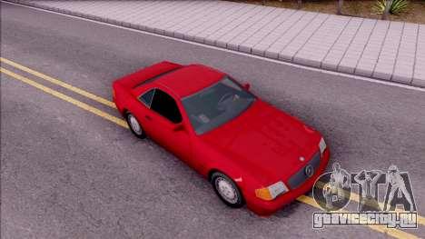 Mercedes-Benz 500SL R129 1989 для GTA San Andreas вид справа