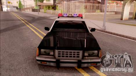 Vice City Police Car для GTA San Andreas вид изнутри