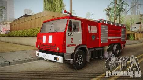 КамАЗ 53212 Пожарная машина города Арзамас для GTA San Andreas вид сзади слева