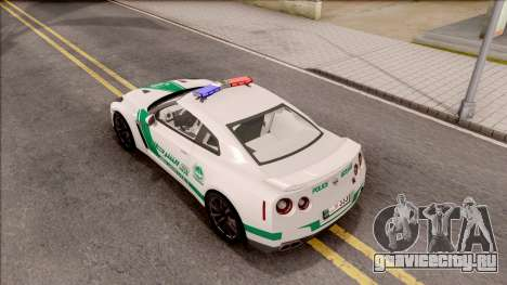 Nissan GT-R R35 Dubai High Speed Police для GTA San Andreas вид сзади
