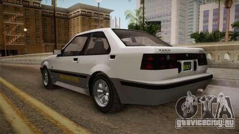 GTA 5 Karin Futo 4-doors для GTA San Andreas вид справа
