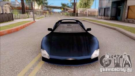 Infernus from GTA 3 для GTA San Andreas вид изнутри
