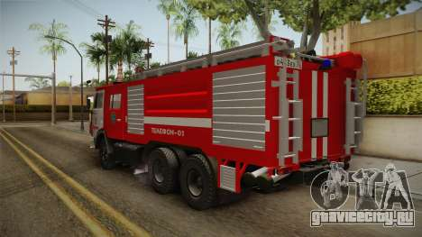 КамАЗ 53212 Пожарная машина города Арзамас для GTA San Andreas вид справа