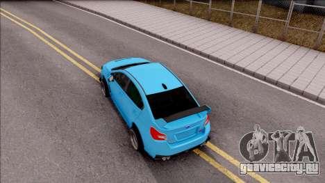 Subaru WRX STI 2017 Tuning для GTA San Andreas вид сзади