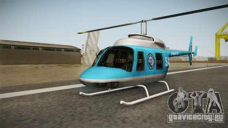 Serbian Police Helicopter для GTA San Andreas вид слева