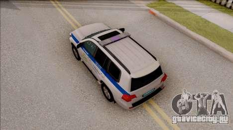 Toyota Land Cruiser 200 Russian Police для GTA San Andreas вид сзади