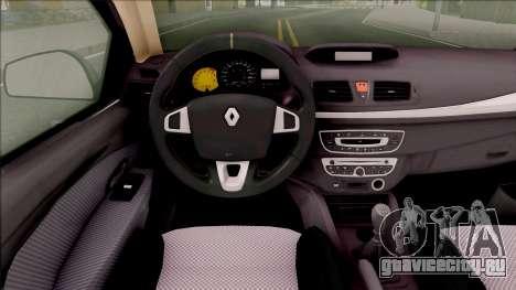 Renault Fluence 2016 для GTA San Andreas вид изнутри