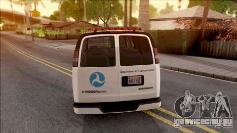 Chevrolet Express San Andreas DOT 2010 для GTA San Andreas вид сзади слева