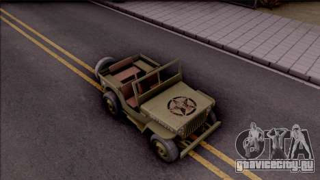 Jeep Willys MB Military для GTA San Andreas вид справа