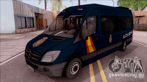 Mercedes-Benz Sprinter Spanish Police для GTA San Andreas