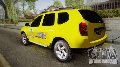 Renault Duster Taxi для GTA San Andreas вид слева