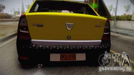 Dacia Logan Taxi для GTA San Andreas вид сзади