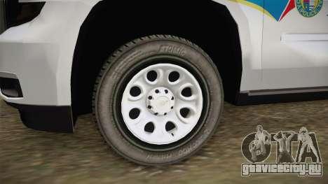 Chevrolet Tahoe PPV 2016 YRP для GTA San Andreas вид сзади