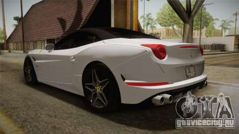 Ferrari California T для GTA San Andreas вид сзади слева