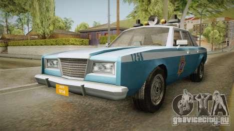 Driver Parallel Lines Zartex Police (LS) для GTA San Andreas вид справа