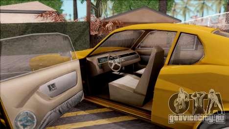 Driver PL Brooklyn V.2 для GTA San Andreas вид изнутри