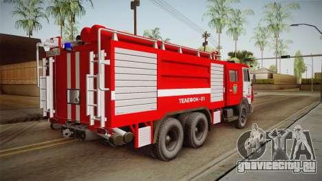 КамАЗ 53212 Пожарная машина города Арзамас для GTA San Andreas вид слева