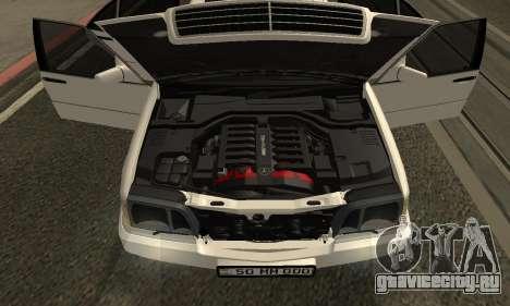 Mercedes-Benz S600 Armenian для GTA San Andreas вид изнутри