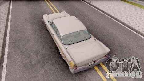 Plymouth Fury 1958 HQLM для GTA San Andreas вид сзади
