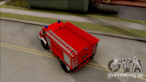 Mercedes-Benz Unimog Vatrogasna Kamion для GTA San Andreas вид сзади