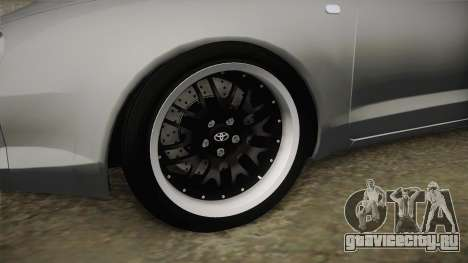 Toyota Celica GT для GTA San Andreas вид сзади