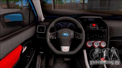 Subaru WRX STI 2017 Tuning для GTA San Andreas вид изнутри