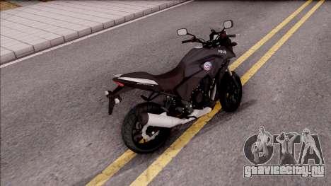 Honda CB500X Turkish Police Motorcycle для GTA San Andreas вид сзади слева