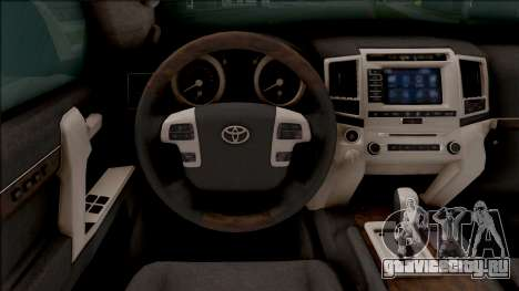 Toyota Land Cruiser 200 Russian Police для GTA San Andreas вид изнутри