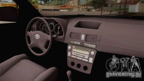 Toyota Fortuner V для GTA San Andreas вид сзади