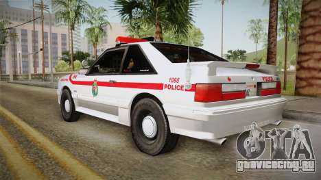 Ford Mustang SSP 1993 YRP для GTA San Andreas вид слева