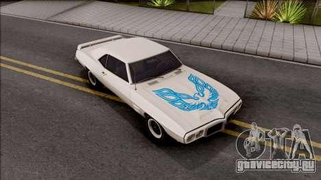 Pontiac Firebird Trans Am Coupe 1969 для GTA San Andreas вид сбоку