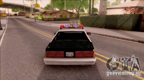 Vice City Police Car для GTA San Andreas вид сзади слева