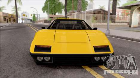 Cheetah 1976 для GTA San Andreas вид изнутри