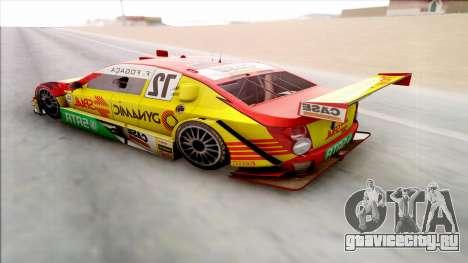 Chevrolet Sonic JL G 09 Stock V8 для GTA San Andreas вид сзади слева