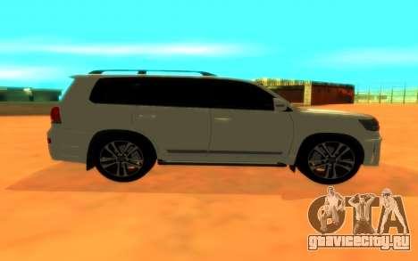 Toyota Land Cruiser 200 для GTA San Andreas вид сзади слева