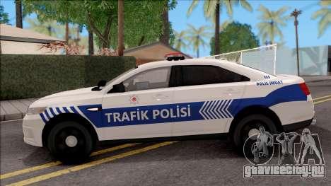 Ford Taurus Turkish Traffic Police для GTA San Andreas вид слева