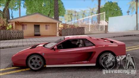 GTA V Grotti Cheetah Classic для GTA San Andreas вид слева