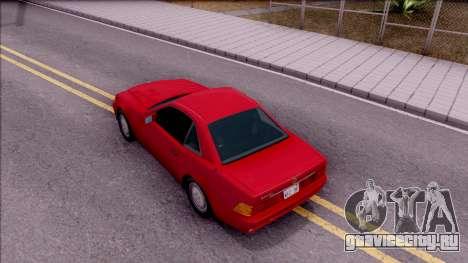Mercedes-Benz 500SL R129 1989 для GTA San Andreas вид сзади