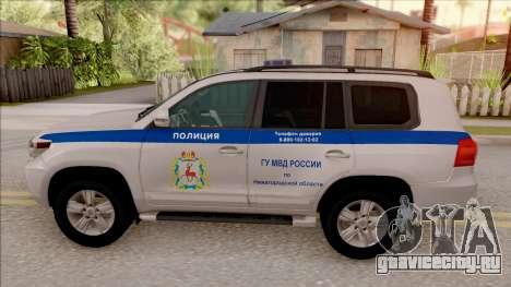 Toyota Land Cruiser 200 Russian Police для GTA San Andreas вид слева