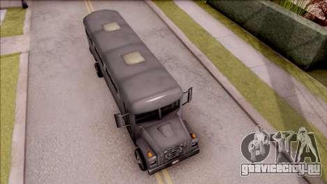 Bus from GTA 3 для GTA San Andreas вид справа