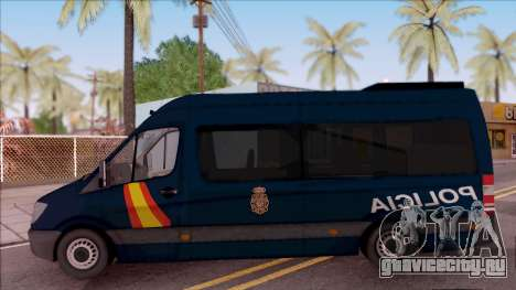 Mercedes-Benz Sprinter Spanish Police для GTA San Andreas вид слева